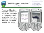 aussie hair products screensaver wallpaper