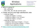 wireless applications73