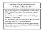 commercial agreement between tmb and mobikom 1994