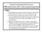 commercial arrangement between tmb and celcom 1995 basis of general agreement13
