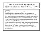 general framework agreement for interconnection and access gfia 199617