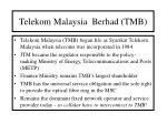 telekom malaysia berhad tmb