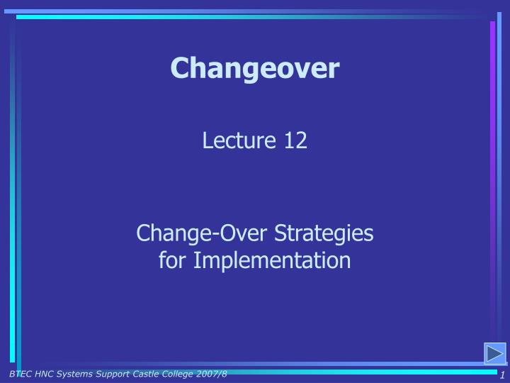 changeover n.