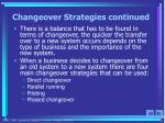 changeover strategies continued5