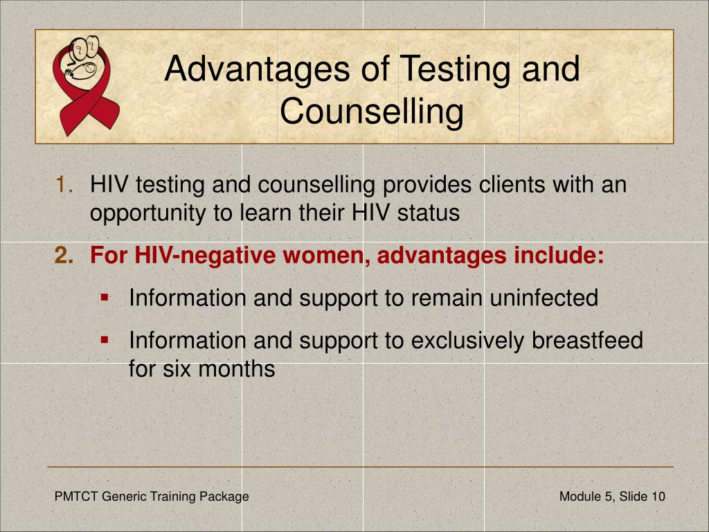 Advantages of Testing and Counselling