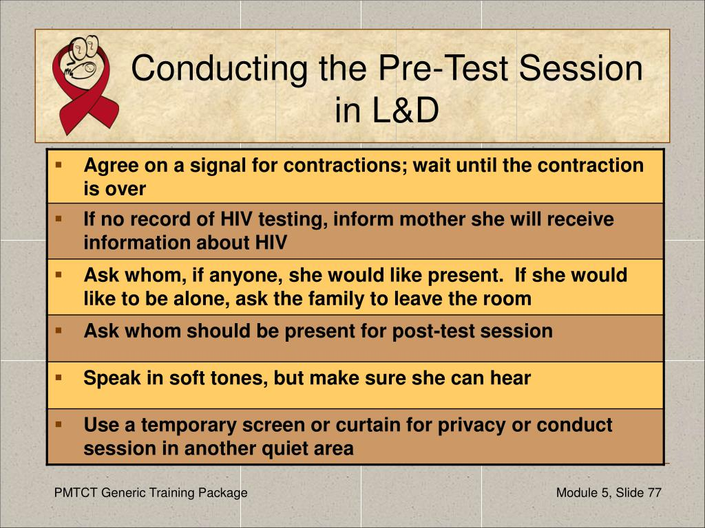 Conducting the Pre-Test Session in L&D