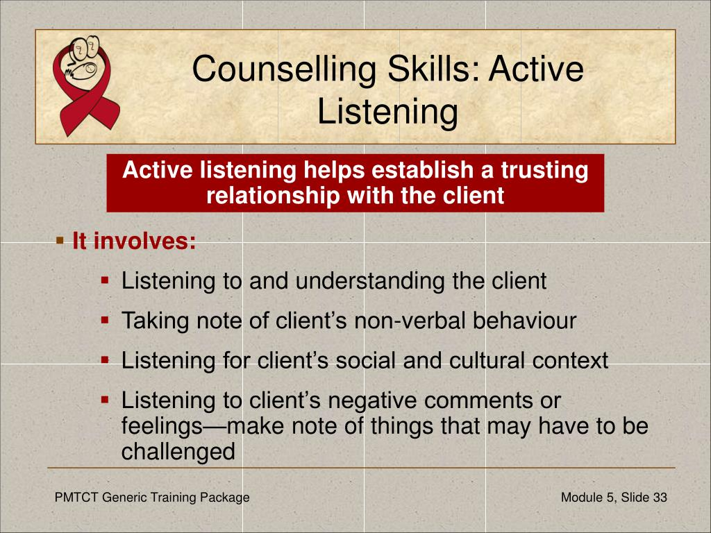 Counselling Skills: Active Listening