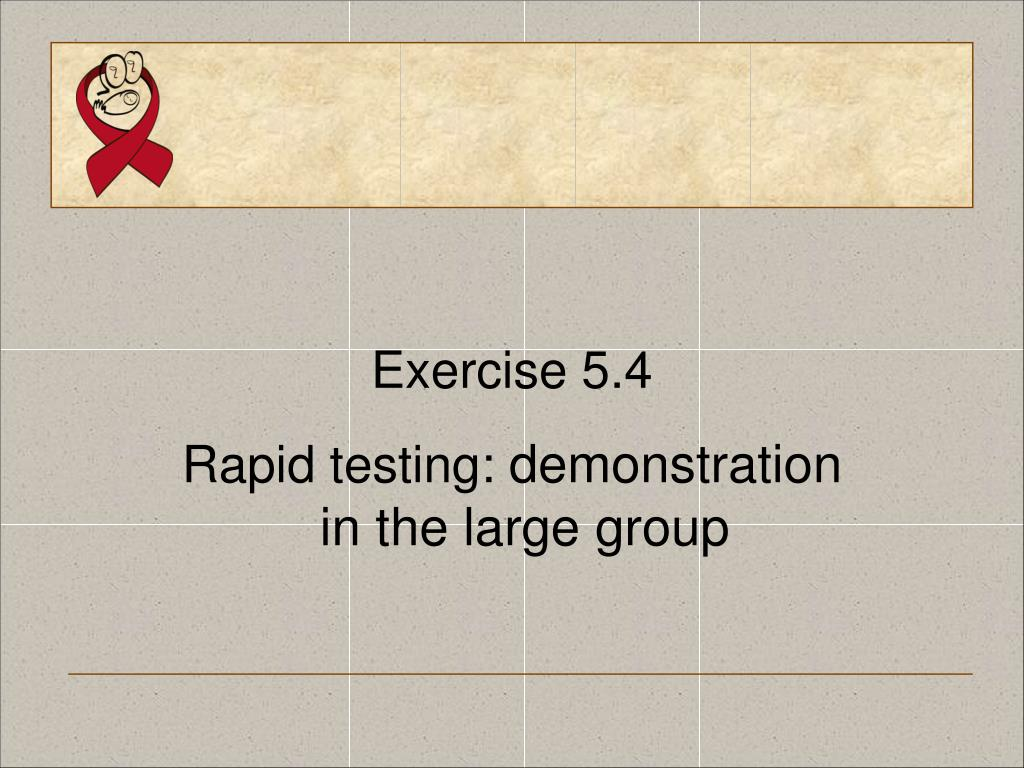 Exercise 5.4