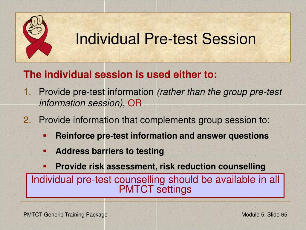 Individual Pre-test Session