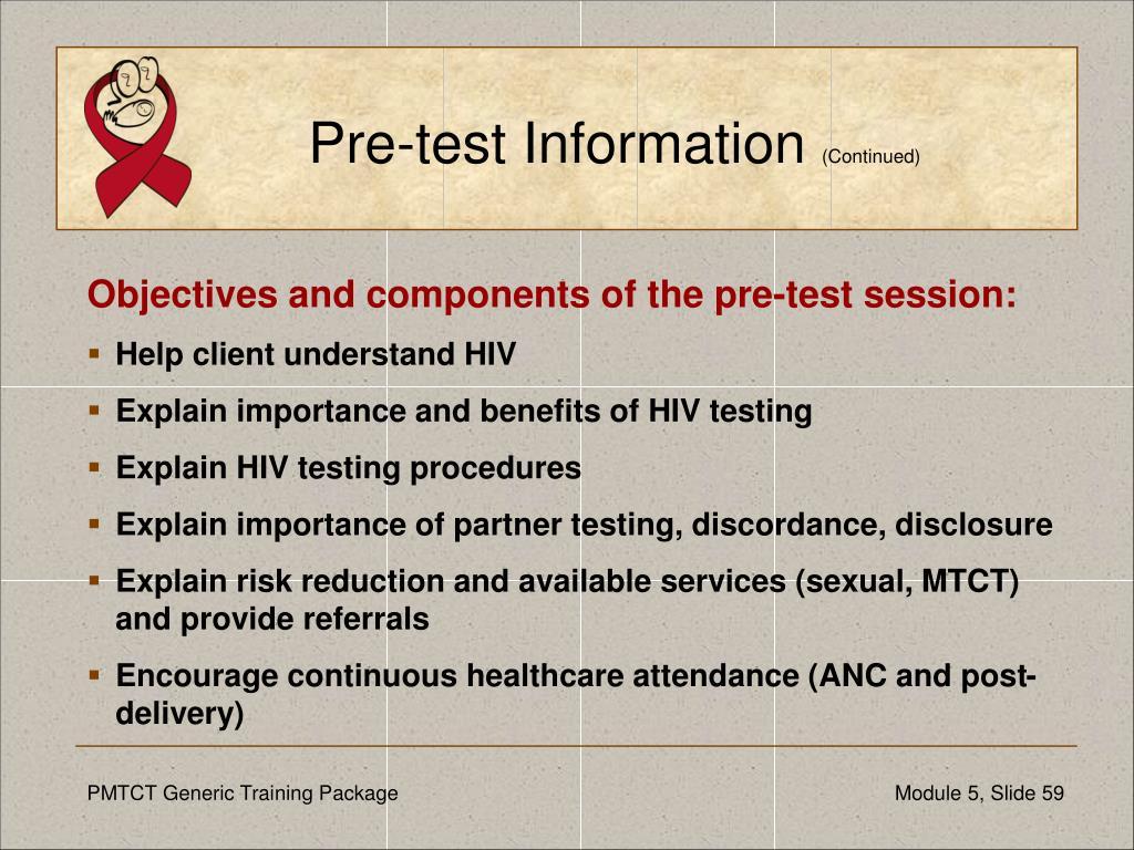 Pre-test Information