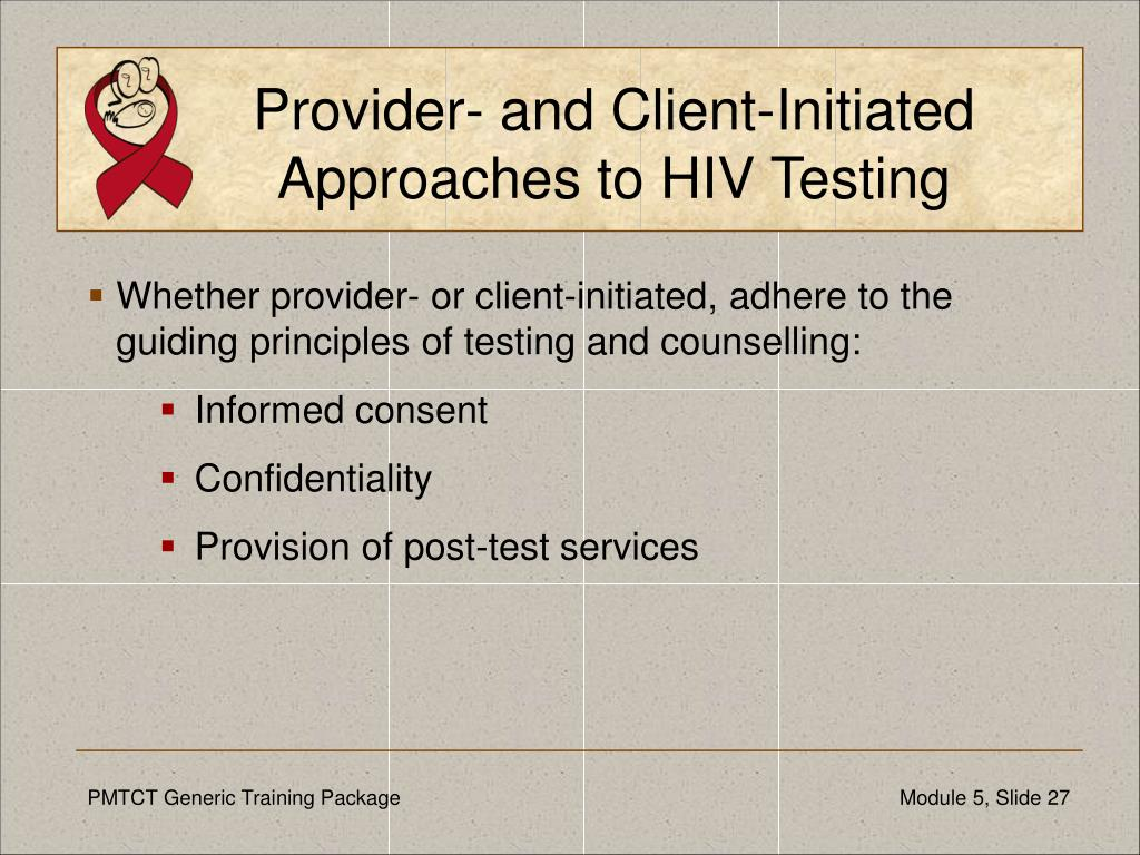 Provider- and Client-Initiated
