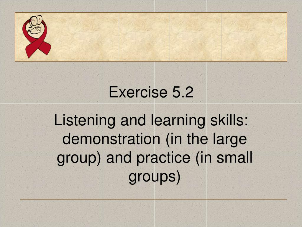 Exercise 5.2
