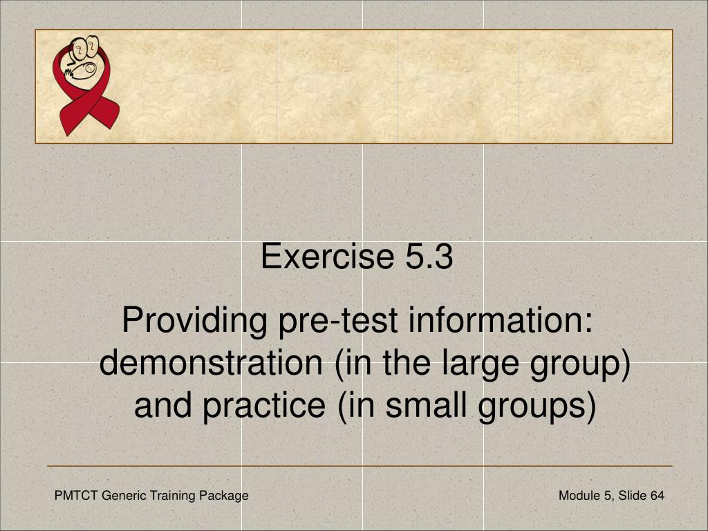 Exercise 5.3