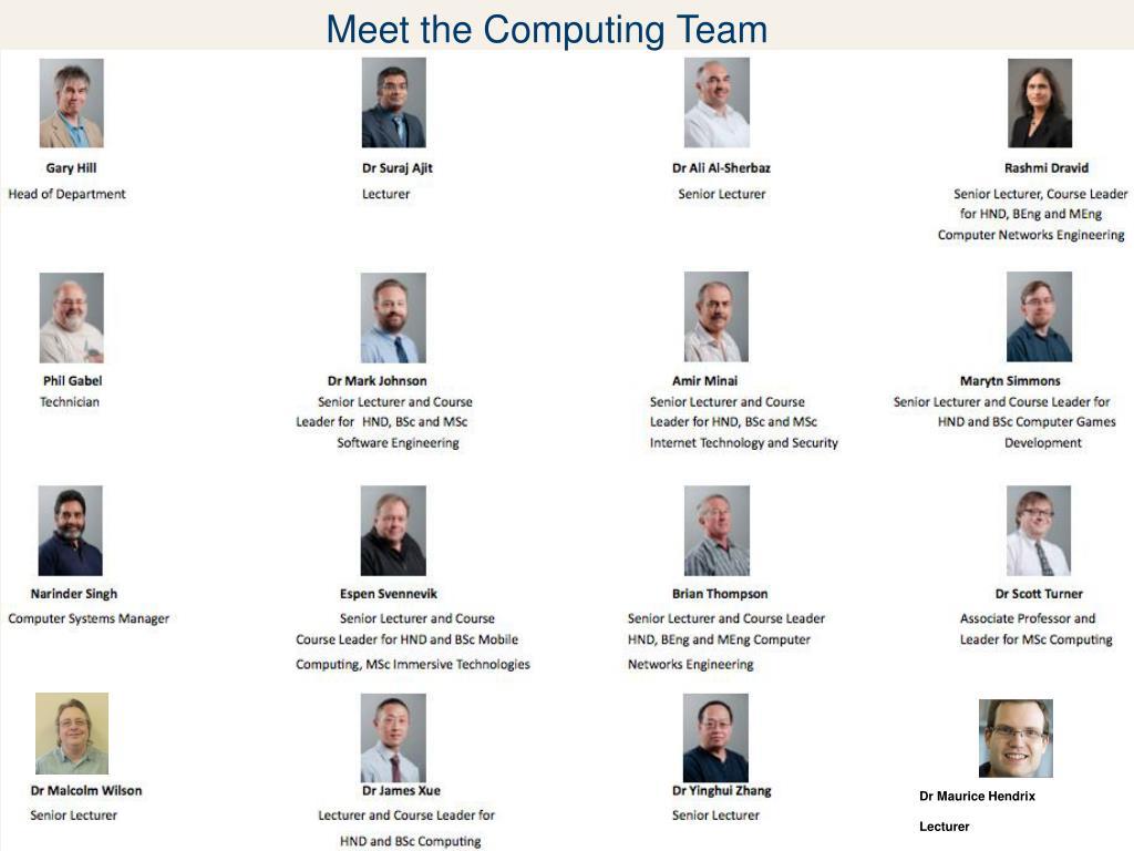Meet the Computing Team