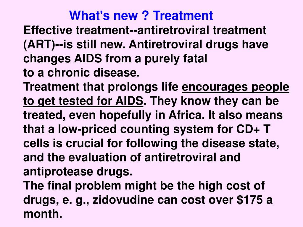 What's new ? Treatment