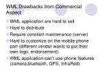 wml drawbacks from commercial aspect