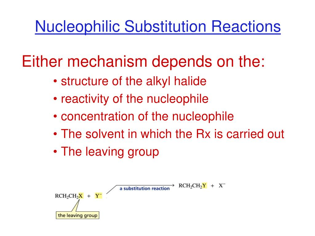 Nucleophilic Substitution Reactions