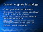 domain engines catalogs