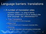 language barriers translations