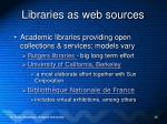 libraries as web sources