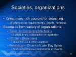 societies organizations
