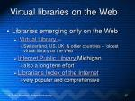 virtual libraries on the web