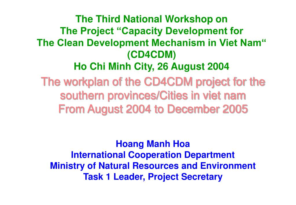 The Third National Workshop on