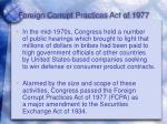 foreign corrupt practices act of 1977
