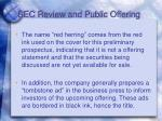 sec review and public offering12