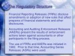 the regulatory structure4