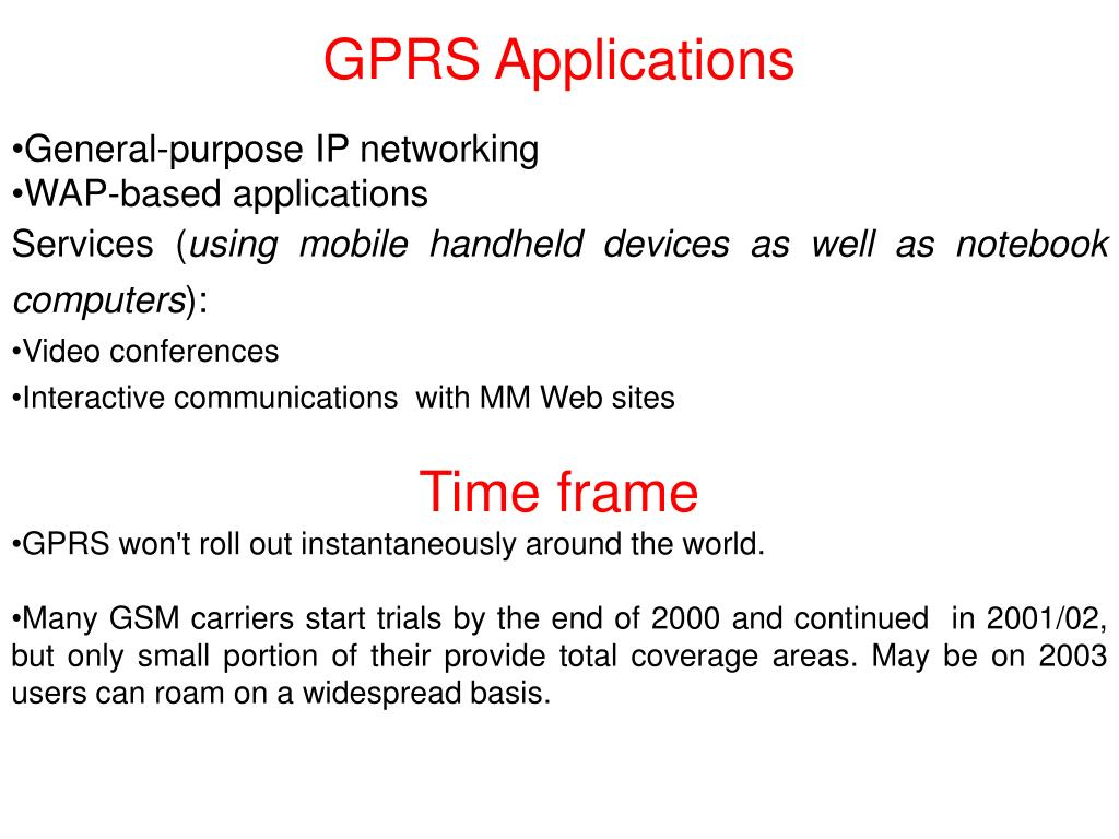 GPRS Applications