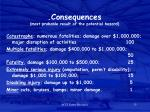 consequences most probable result of the potential hazard