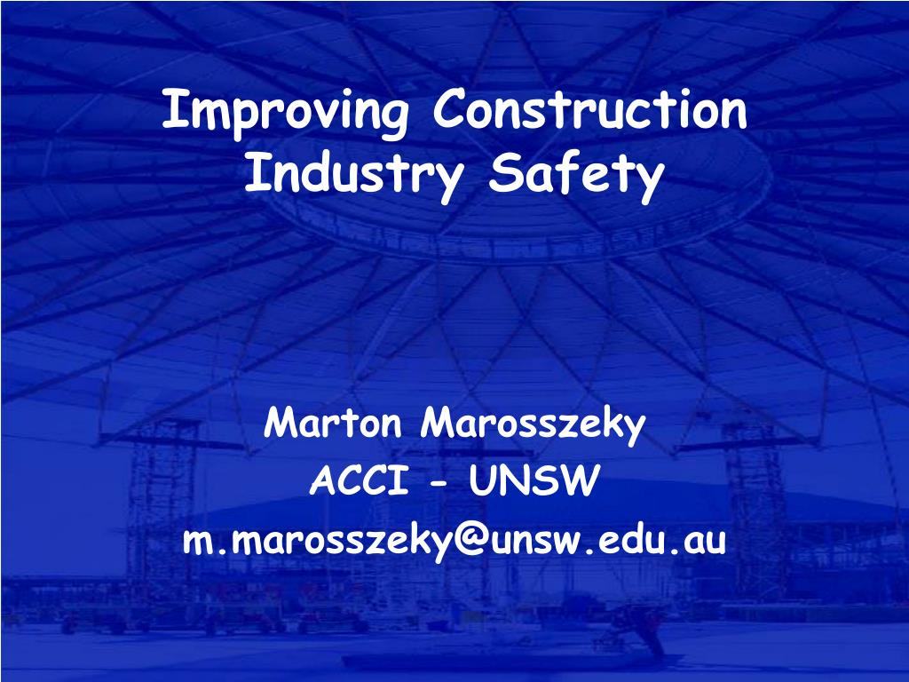 improving construction industry safety l.