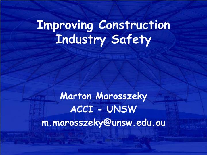 improving construction industry safety n.