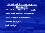 standard terminology and documents