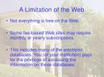 a limitation of the web31