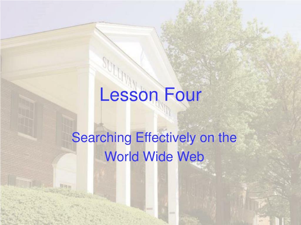 lesson four l.