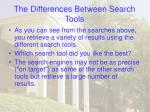 the differences between search tools26