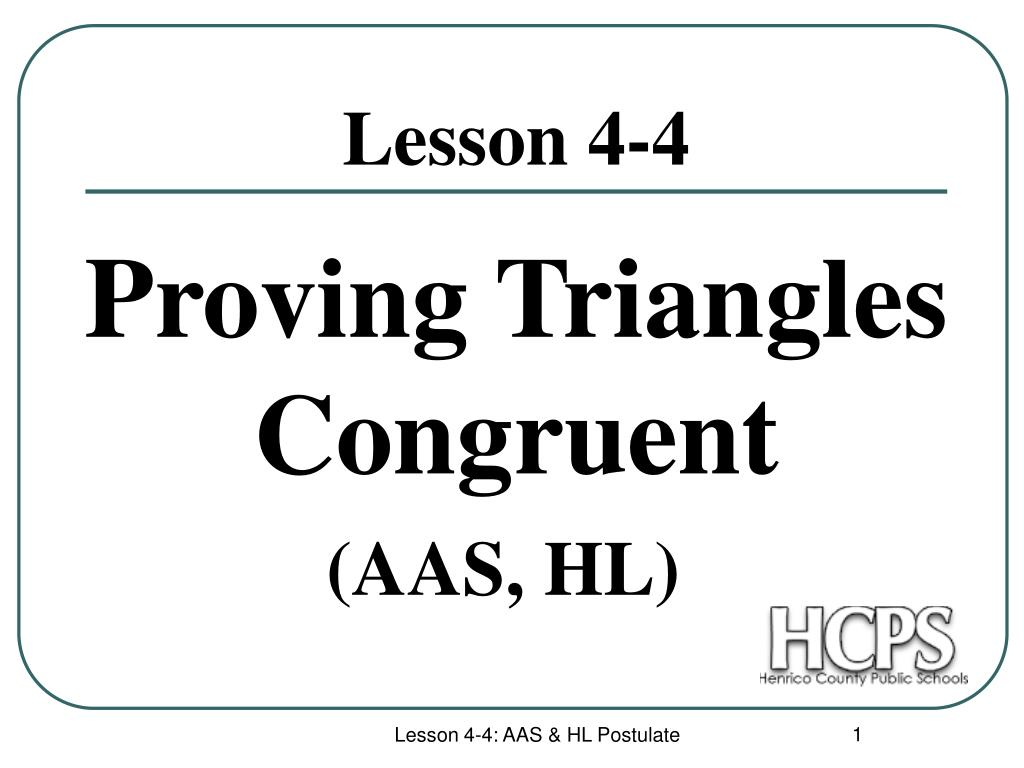 proving triangles congruent l.