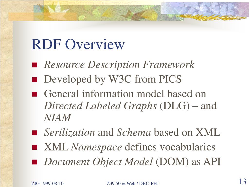 RDF Overview
