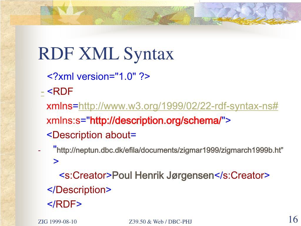 RDF XML Syntax