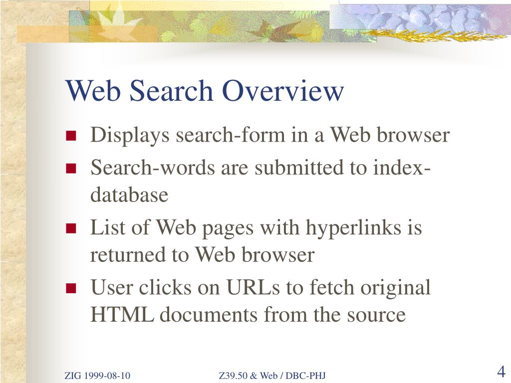 Web Search Overview