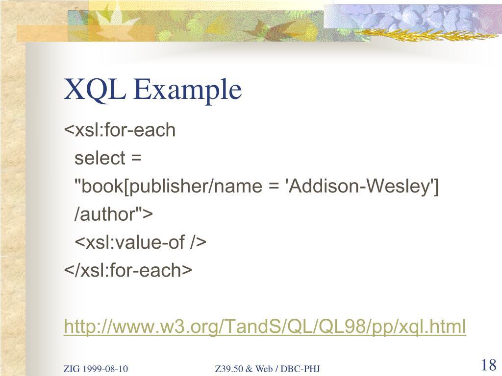 XQL Example