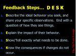 feedback steps d e s k