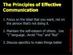 the principles of effective communication