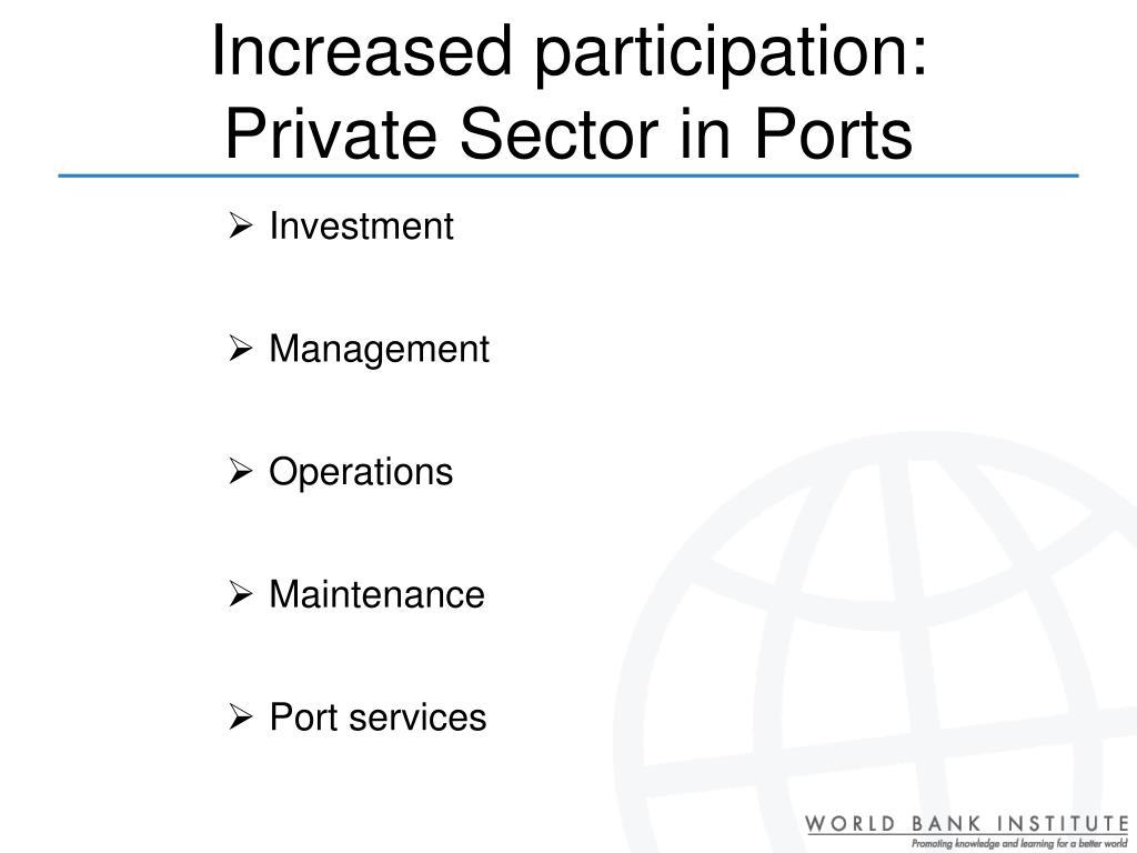 Increased participation: