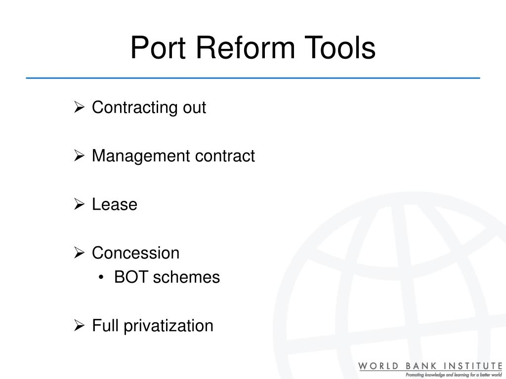 Port Reform Tools