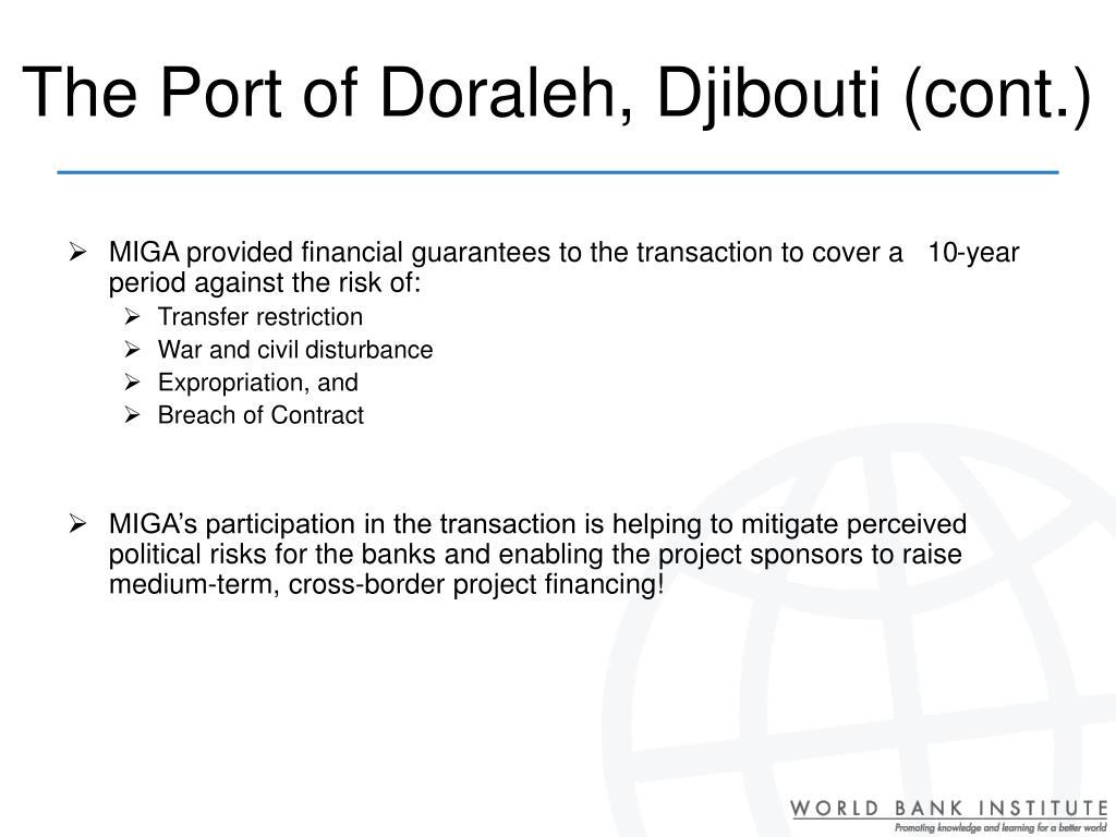 The Port of Doraleh, Djibouti (cont.)