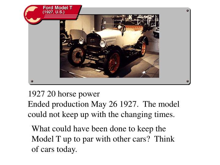 1927 20 horse power