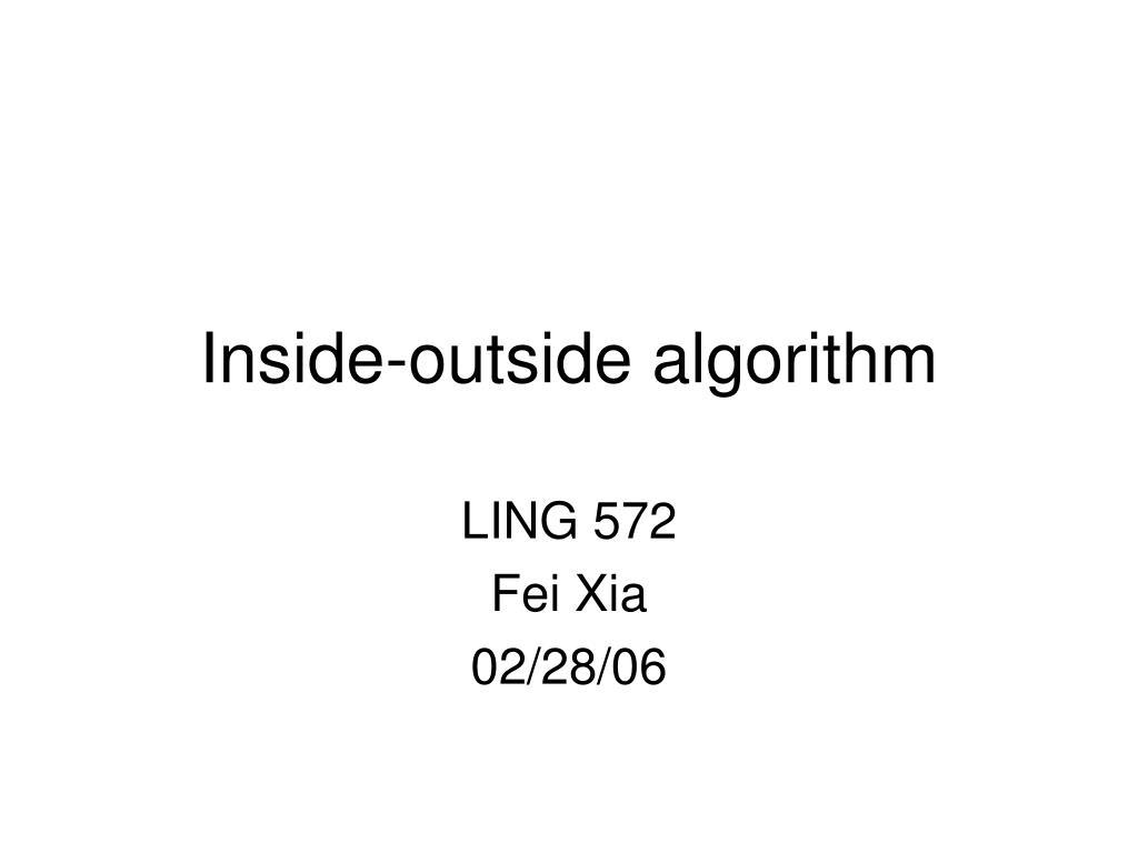 inside outside algorithm